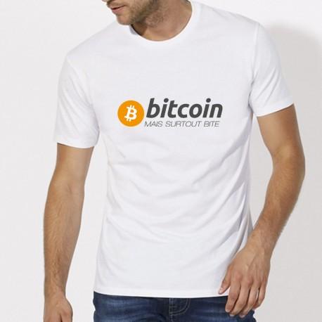 T-Shirt Bitcoin mais surtout bite